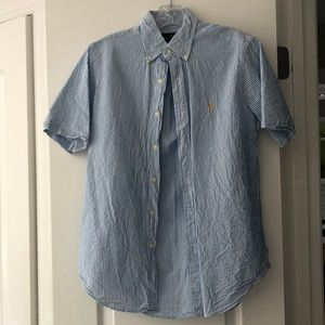 Polo by Ralph Lauren Blue Seersucker Button-up